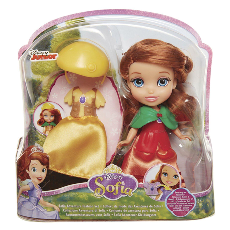 迪士尼公主 6吋小公主蘇菲亞娃娃服飾組 (黃帽子)