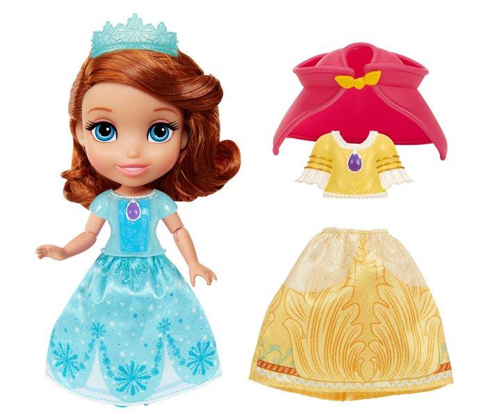 迪士尼公主 6吋小公主蘇菲亞娃娃服飾組 (紅披風)