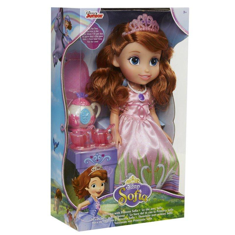 迪士尼公主 12吋小公主蘇菲亞娃娃+茶具組