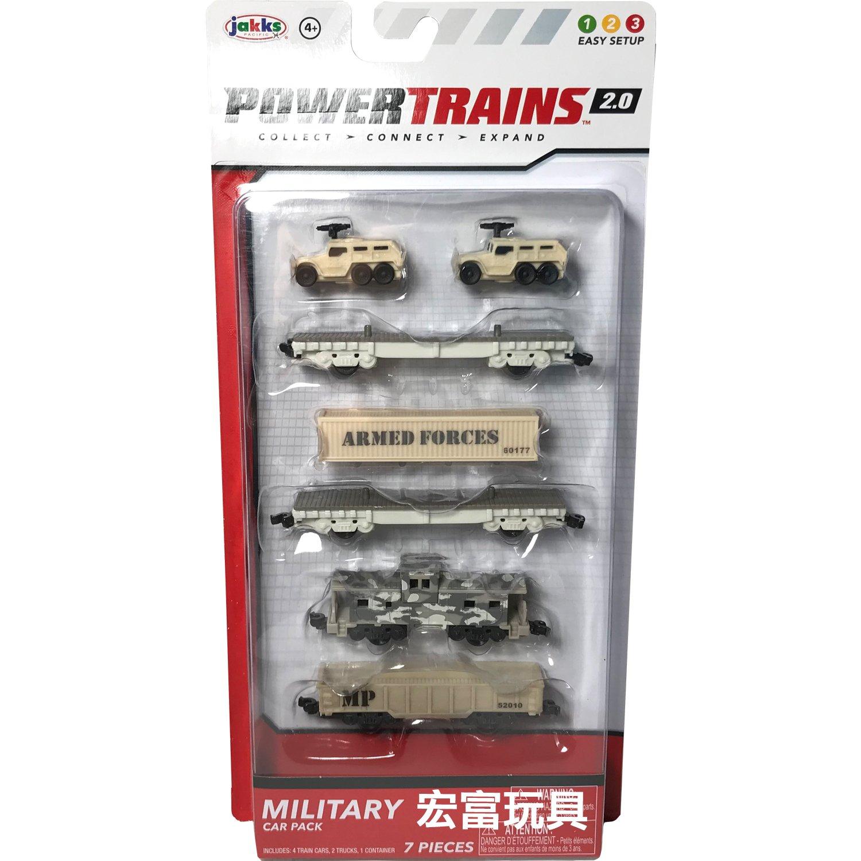 POWER TRAINS軌道火車 動能列車 連結車廂4入W3