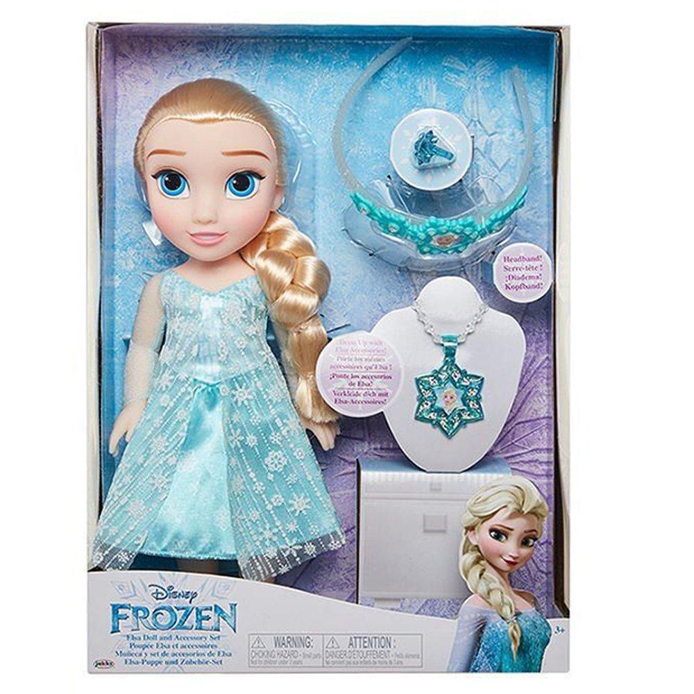 迪士尼公主娃娃+配件組 - 艾莎