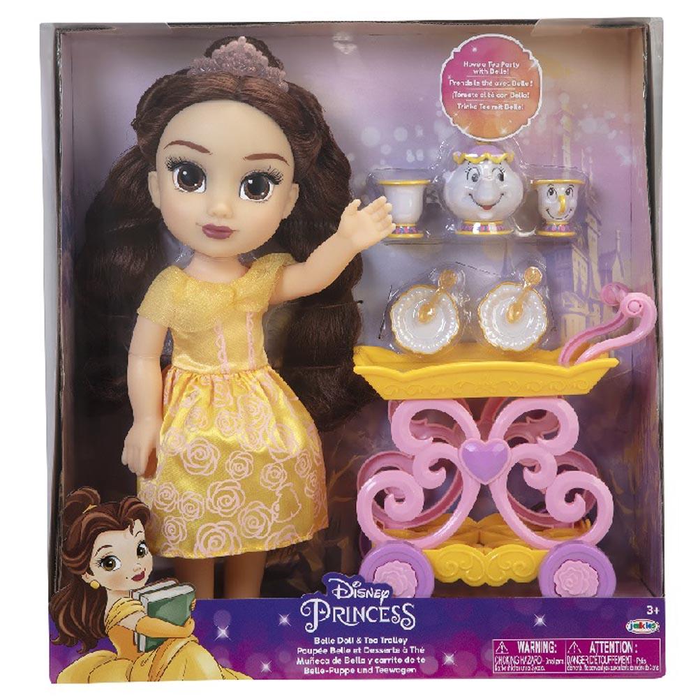 迪士尼公主娃娃 貝兒與餐車