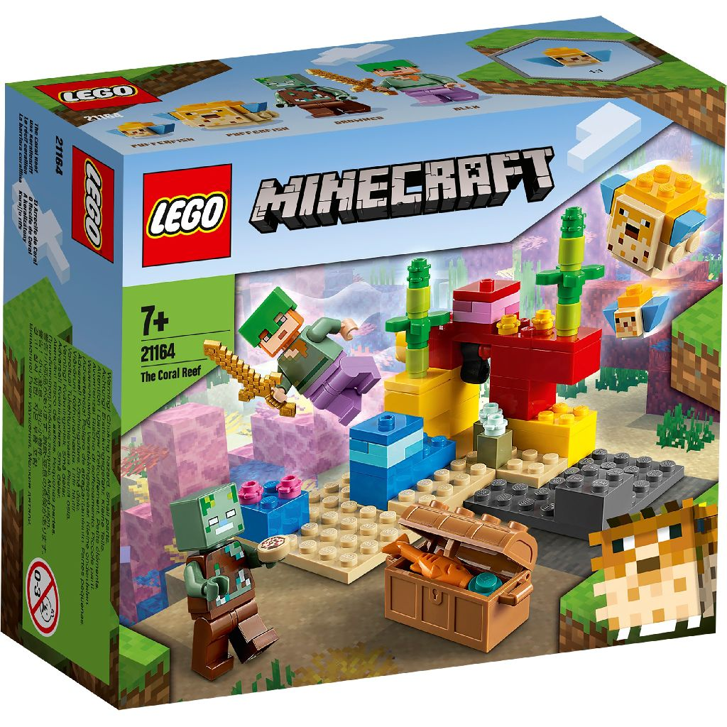 【2021.1月新品】LEGO 樂高積木 Minecraft Micro World 創世神系列 21164 The Coral Reef