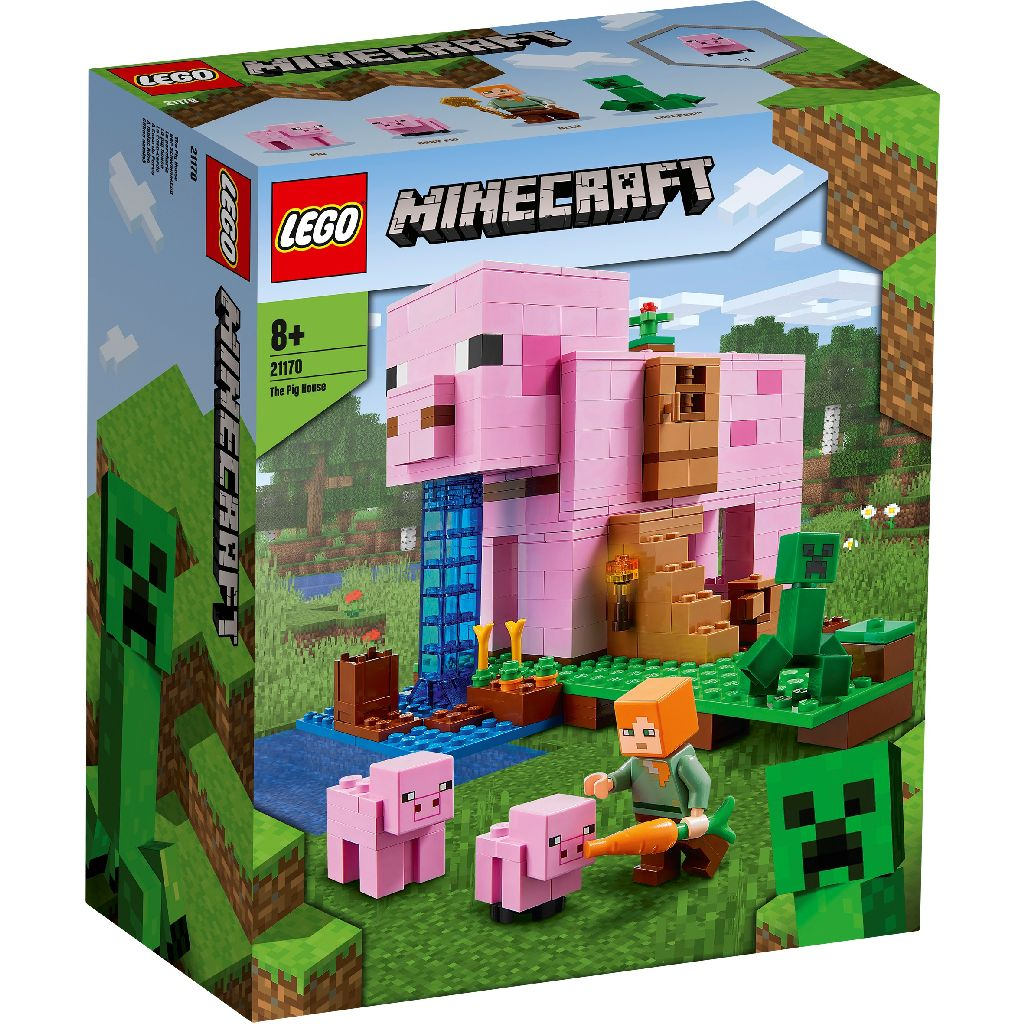 【2021.1月新品】LEGO 樂高積木 Minecraft Micro World 創世神系列 21170 The Pig House