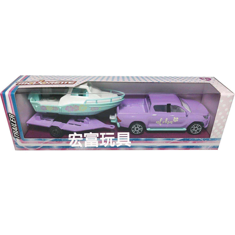 MAJORETTE 美捷輪小汽車 粉紅拖車系列(開窗盒裝)