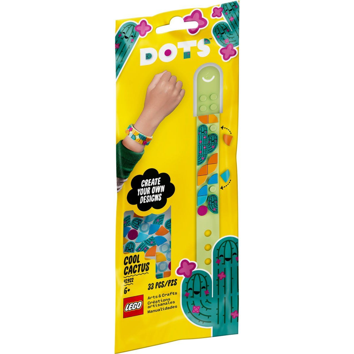 LEGO 樂高積木 DOTS 豆豆系列 41922 豆豆手環-酷炫仙人掌