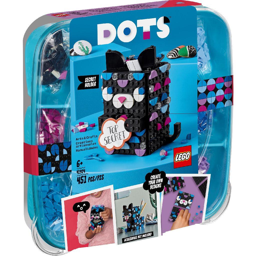 【2021.1月新品】LEGO 樂高積木 DOTS 豆豆系列 41924 頂級秘密黑貓筆筒