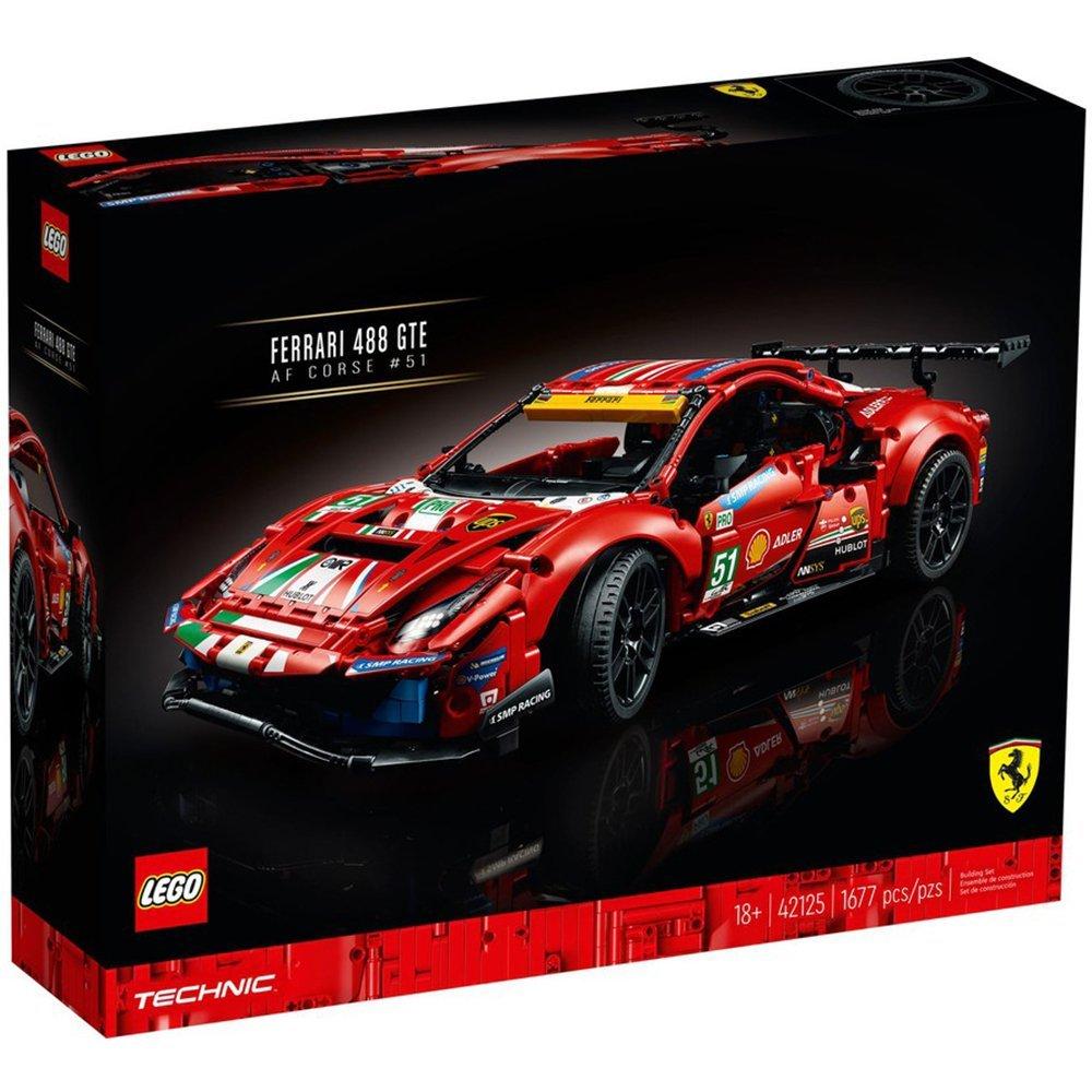 "【2021.1月新品】LEGO 樂高積木 Technic 42125 Ferrari 488 GTE ""AF Corse #51"""