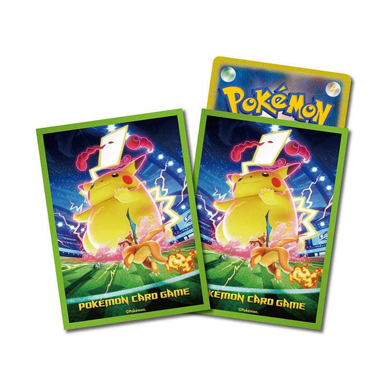 神奇寶貝 卡牌收集卡套 Pokemon - Deck Shield 寶可夢主題標準尺寸卡套 極巨化皮卡丘