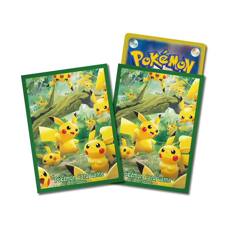 神奇寶貝 卡牌收集卡套 Pokemon - Deck Shield 寶可夢主題標準尺寸卡套 皮卡丘之森