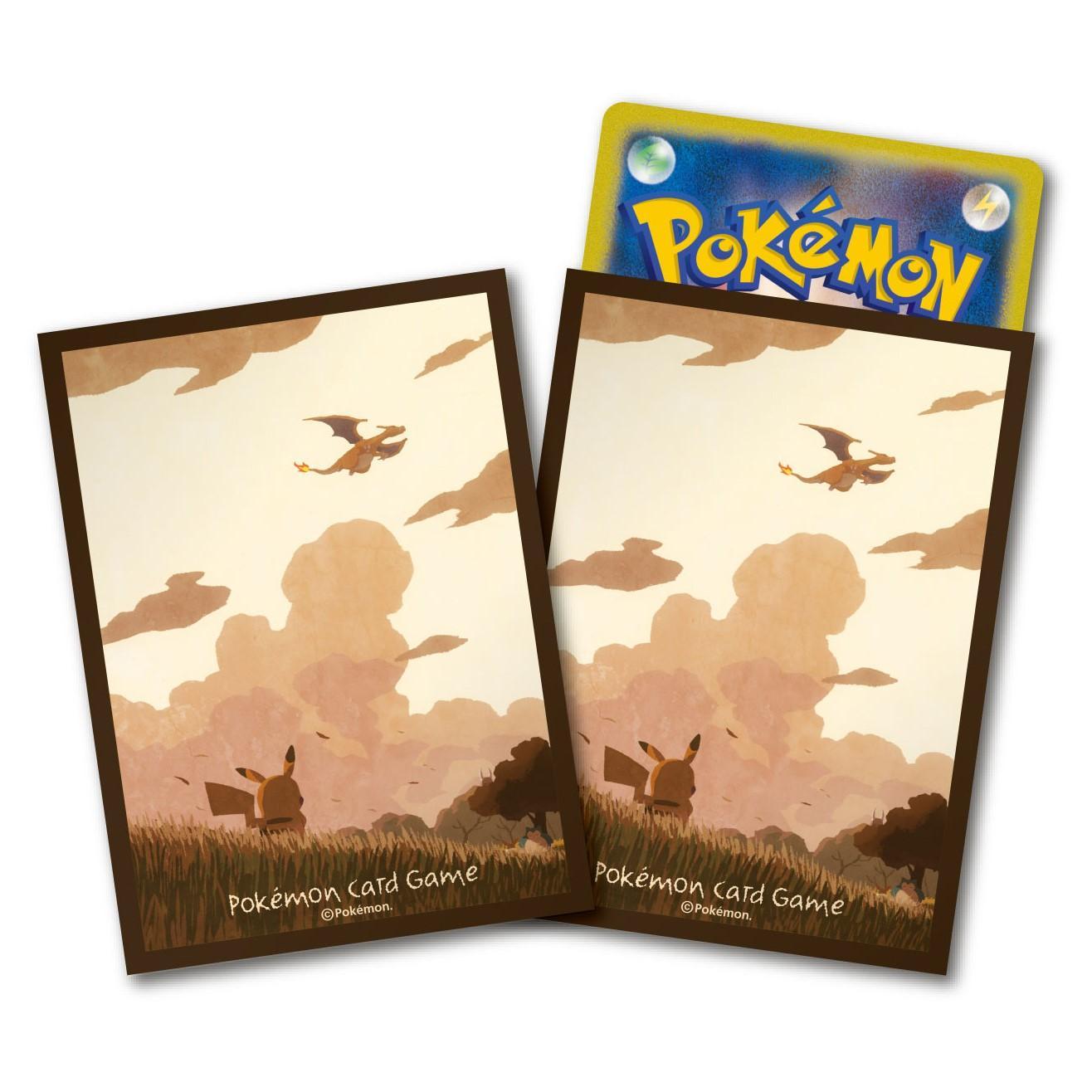 神奇寶貝 卡牌收集卡套 Pokemon - Deck Shield 寶可夢主題標準尺寸卡套 皮卡丘與天空