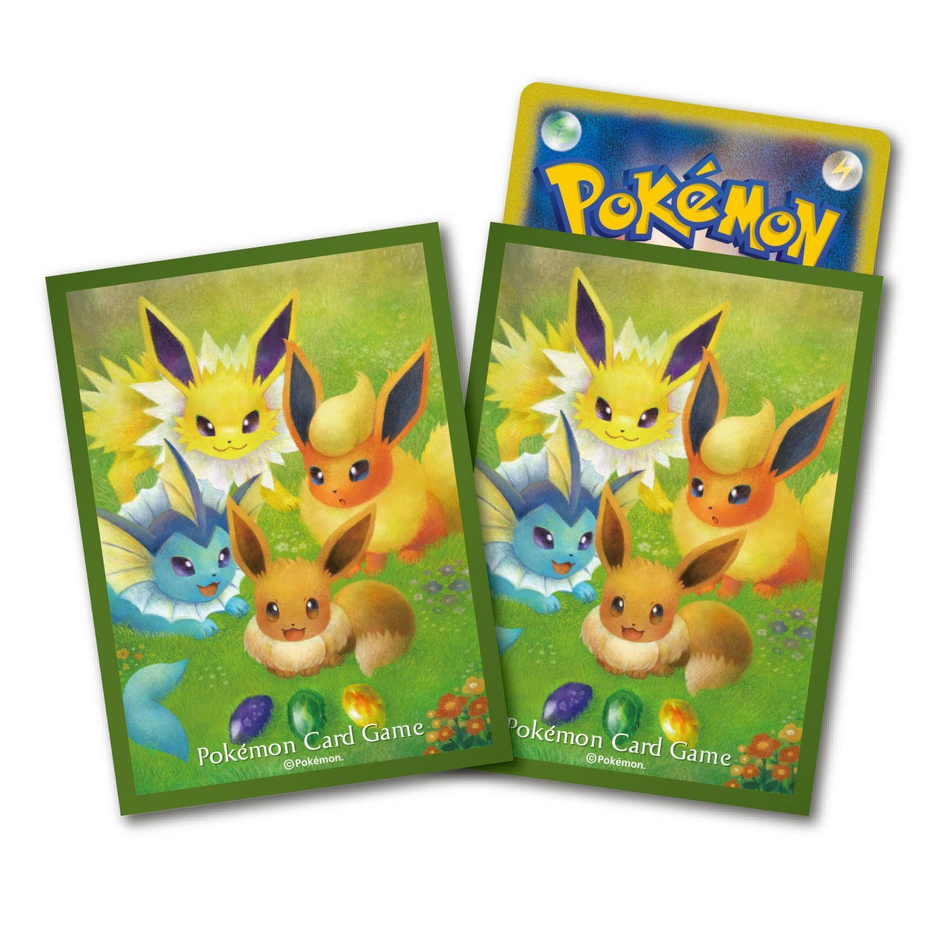 神奇寶貝 卡牌收集卡套 Pokemon - Deck Shield 寶可夢主題標準尺寸卡套 伊布的進化