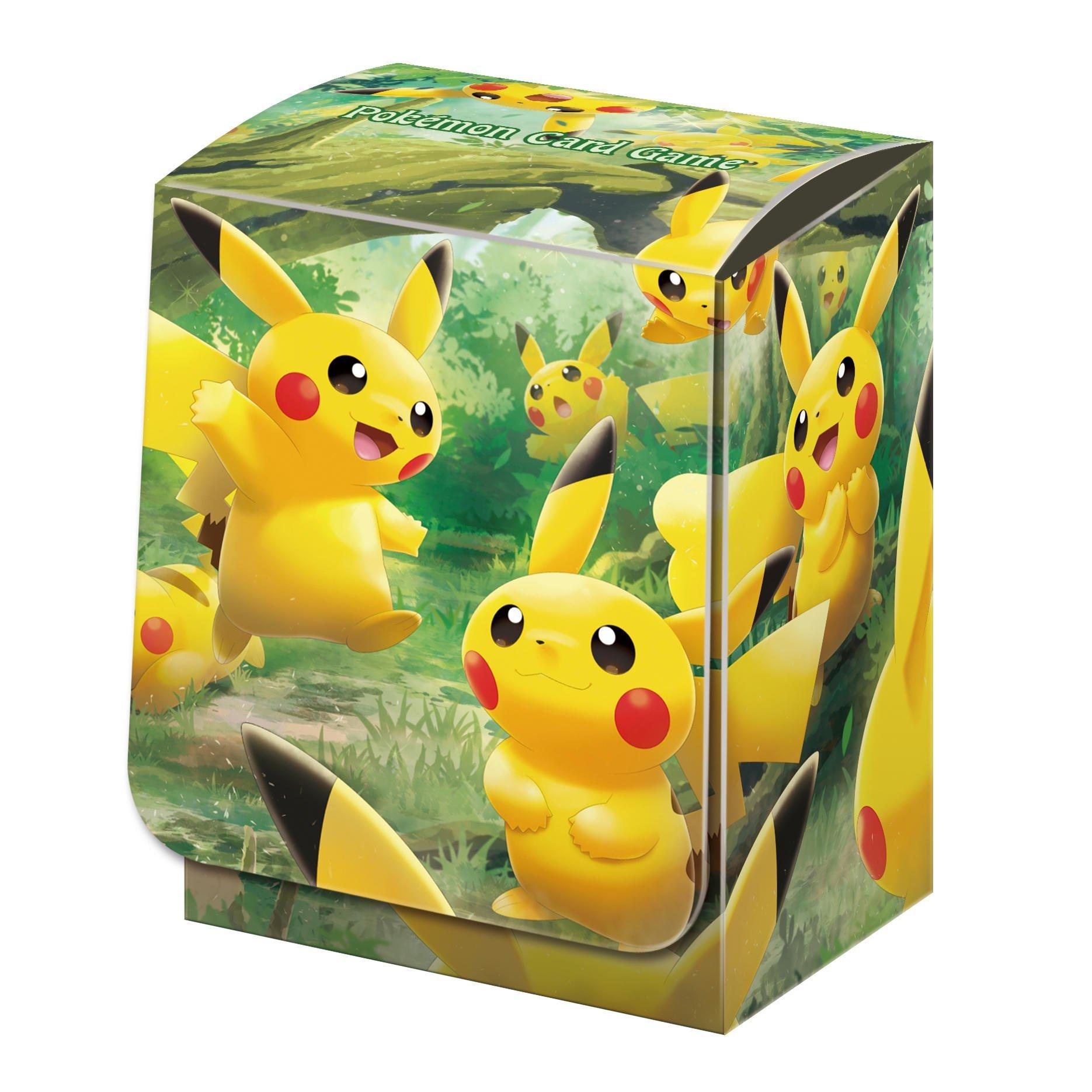 神奇寶貝 卡牌收集盒 Pokemon Deck Box Case 皮卡丘之森