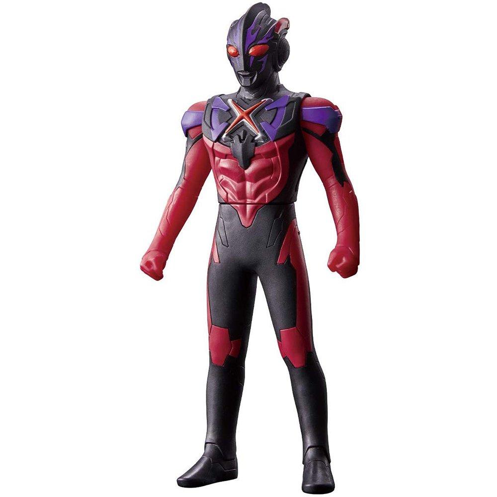 超人力霸王 英雄軟膠 EX 超人力霸王X黑暗