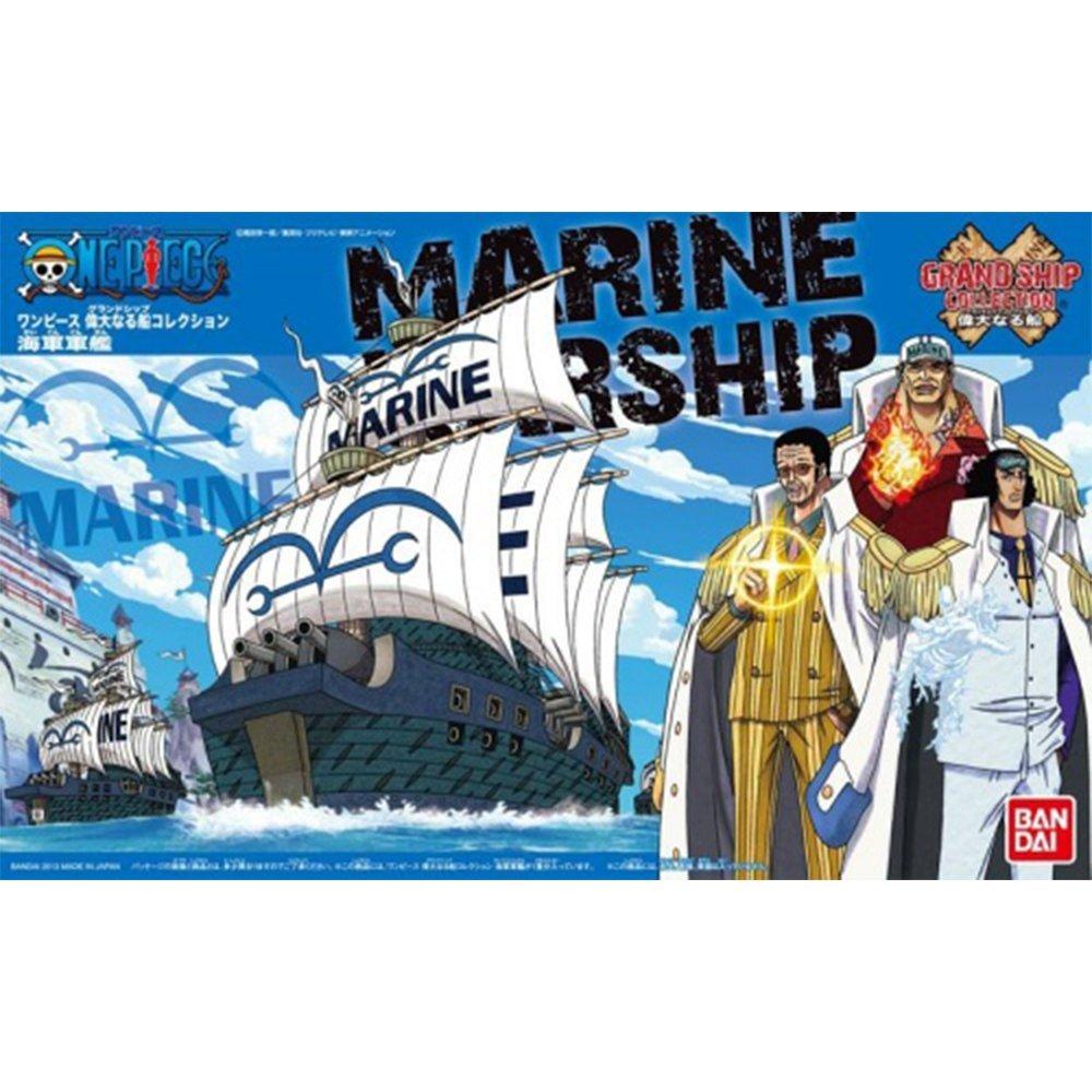 鋼彈gundam組合模型 航海王{海賊王} #07 偉大的船艦收藏集 海軍船艦