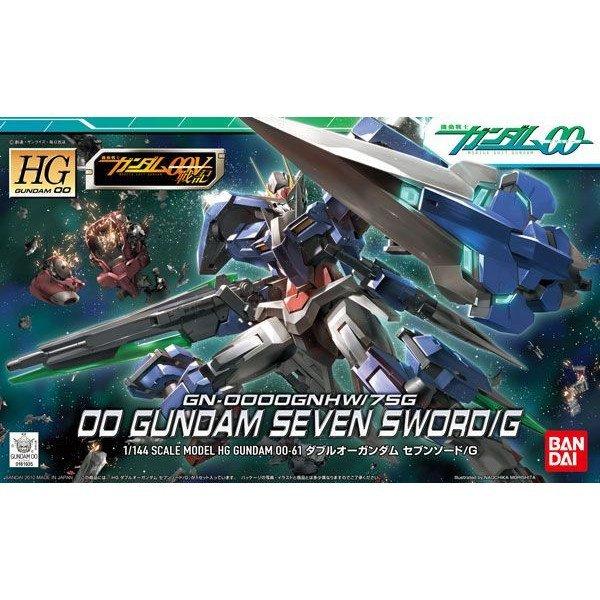 鋼彈gundam組合模型能天使系列 鋼彈00 HG 1/144 #61 七劍