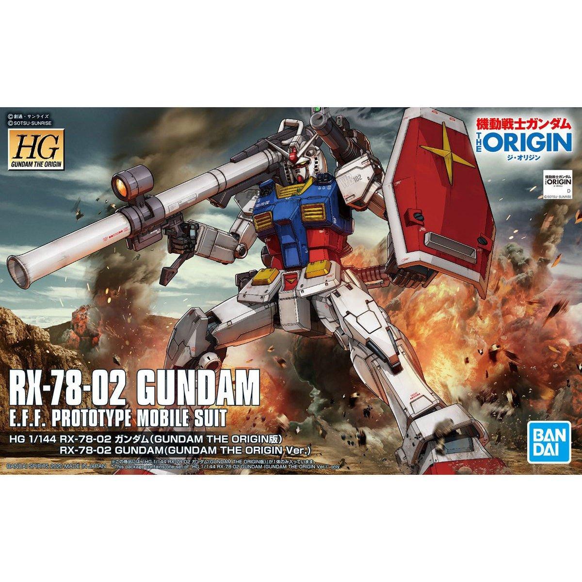 鋼彈gundam組合模型 HG 機動戰士 1/144 #026 RX-78-02鋼彈 (GUNDAM THE ORIGIN Ver.)