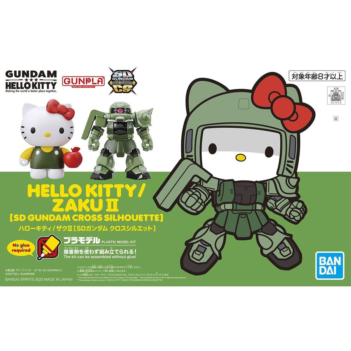 鋼彈gundam組合模型 HELLO KITTY / 薩克II (SD鋼彈 CROSS SILHOUETTE)