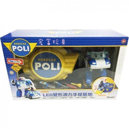 Robo car POLI 波力 LED 變形波力手提基地