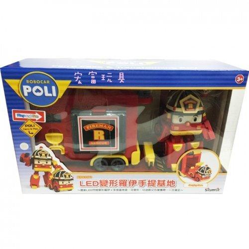Robo car POLI LED 變形羅伊手提基地