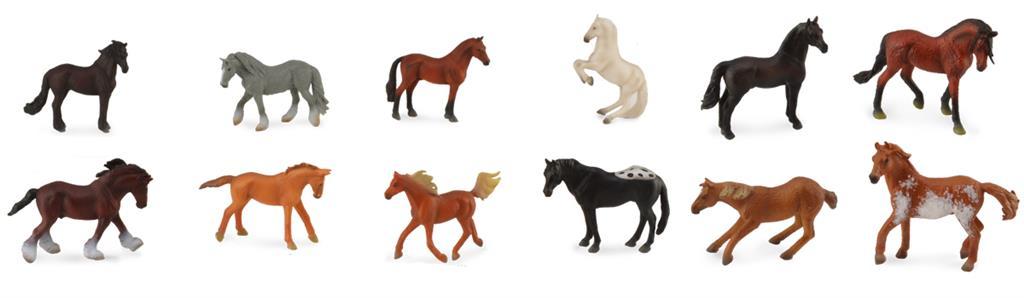 《 COLLECTA 》英國 PROCON 動物模型 A1109 盒裝迷你馬系列