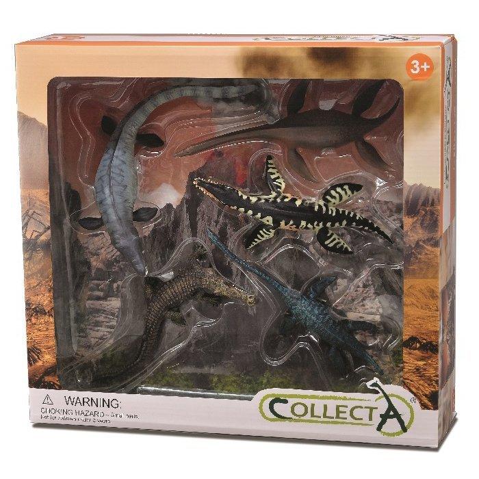 《 COLLECTA 》動物模型 恐龍海怪禮盒組 (5入)