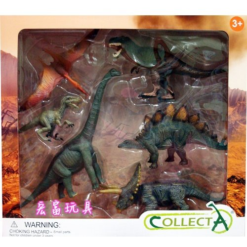 《 COLLECTA 》英國 Procon 動物模型 恐龍禮盒組6入