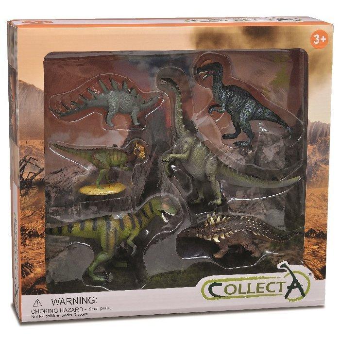 《 COLLECTA 》動物模型 恐龍動物禮盒組 (6入)
