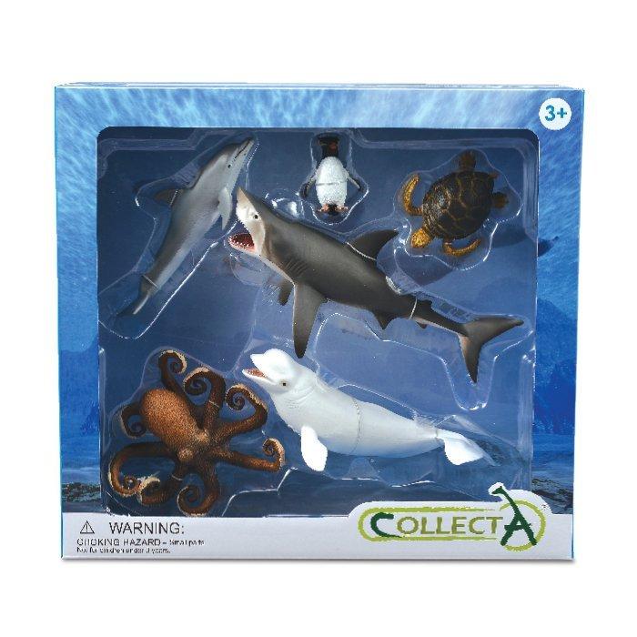 《 COLLECTA 》動物模型 海洋生物禮盒組 (6入)