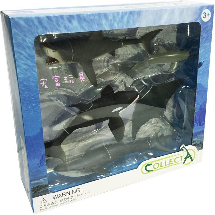 《 COLLECTA 》英國 Procon 動物模型海洋生物禮盒組 【特價品】