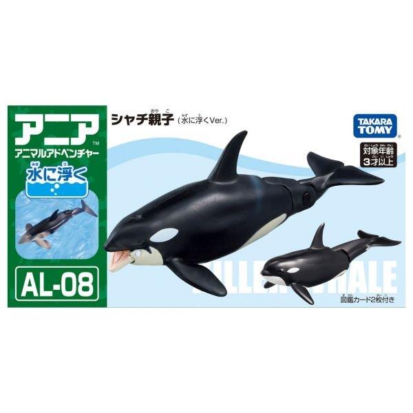 TOMY 動物模型 AL-08 虎鯨 (飄浮版)