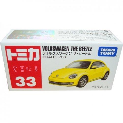 TOMICA 多美小汽車 #33 VOLKSWAGEN THE BEETLE 黃色 金龜車