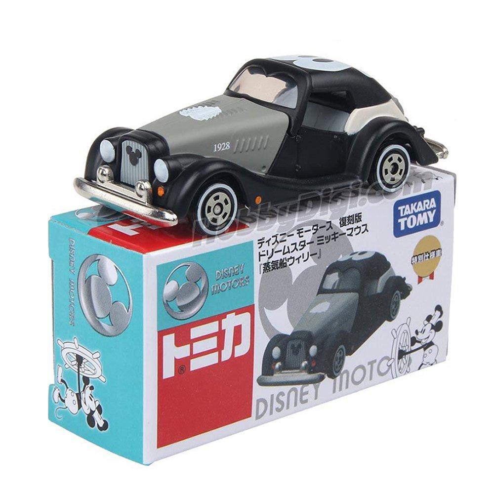TOMICA 多美迪士尼小汽車 DM迪士尼蒸汽船老爺車黑白復刻版