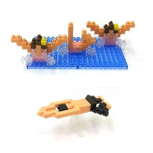 日本 nanoblock 河田積木NBCB-001水上運動項目游泳