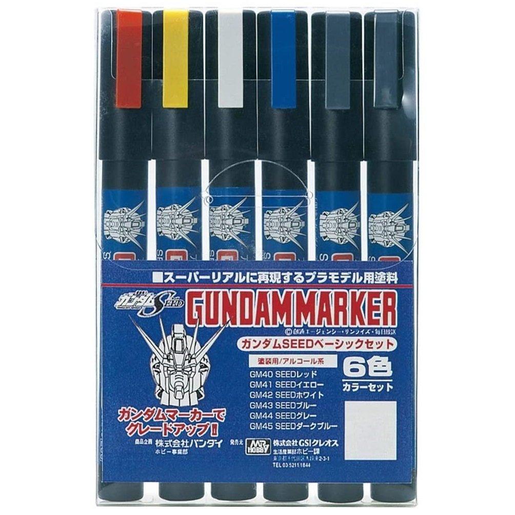 鋼彈組合模型麥克筆 GMS-109 鋼彈筆套組(SEED鋼彈用)