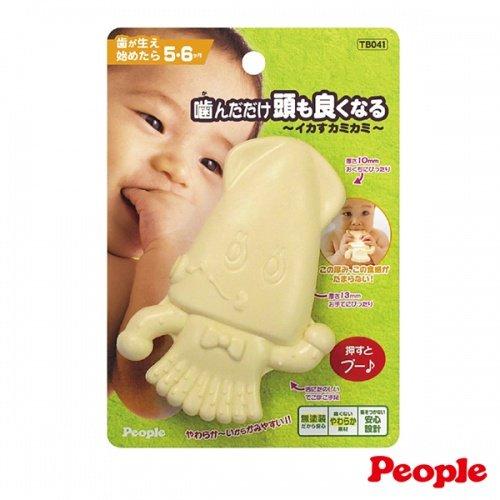 日本People 幼兒益智玩具 新小烏賊咬舔玩具