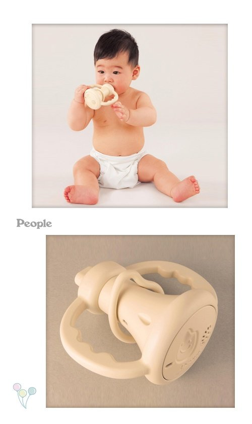 日本People 幼兒益智玩具 米的喇叭咬舔玩具