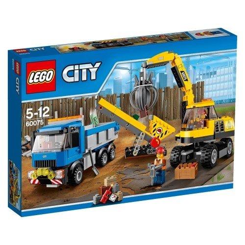 LEGO 樂高積木 City Demolition 60075 挖土機和卡車