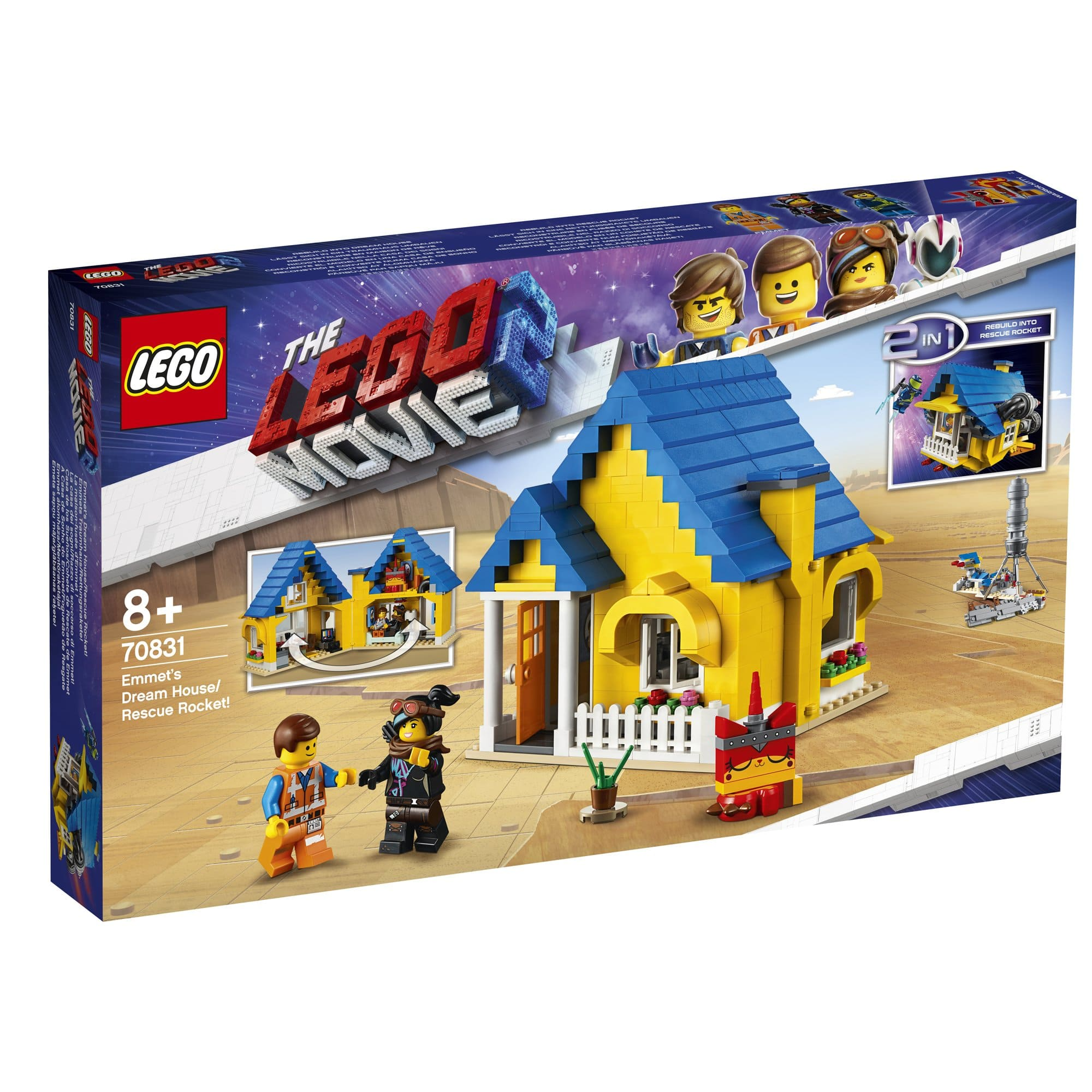 LEGO 樂高積木 LEGO Movie 樂高玩電影2系列 70831 Emmet's Dream House/Rescue Rocket!