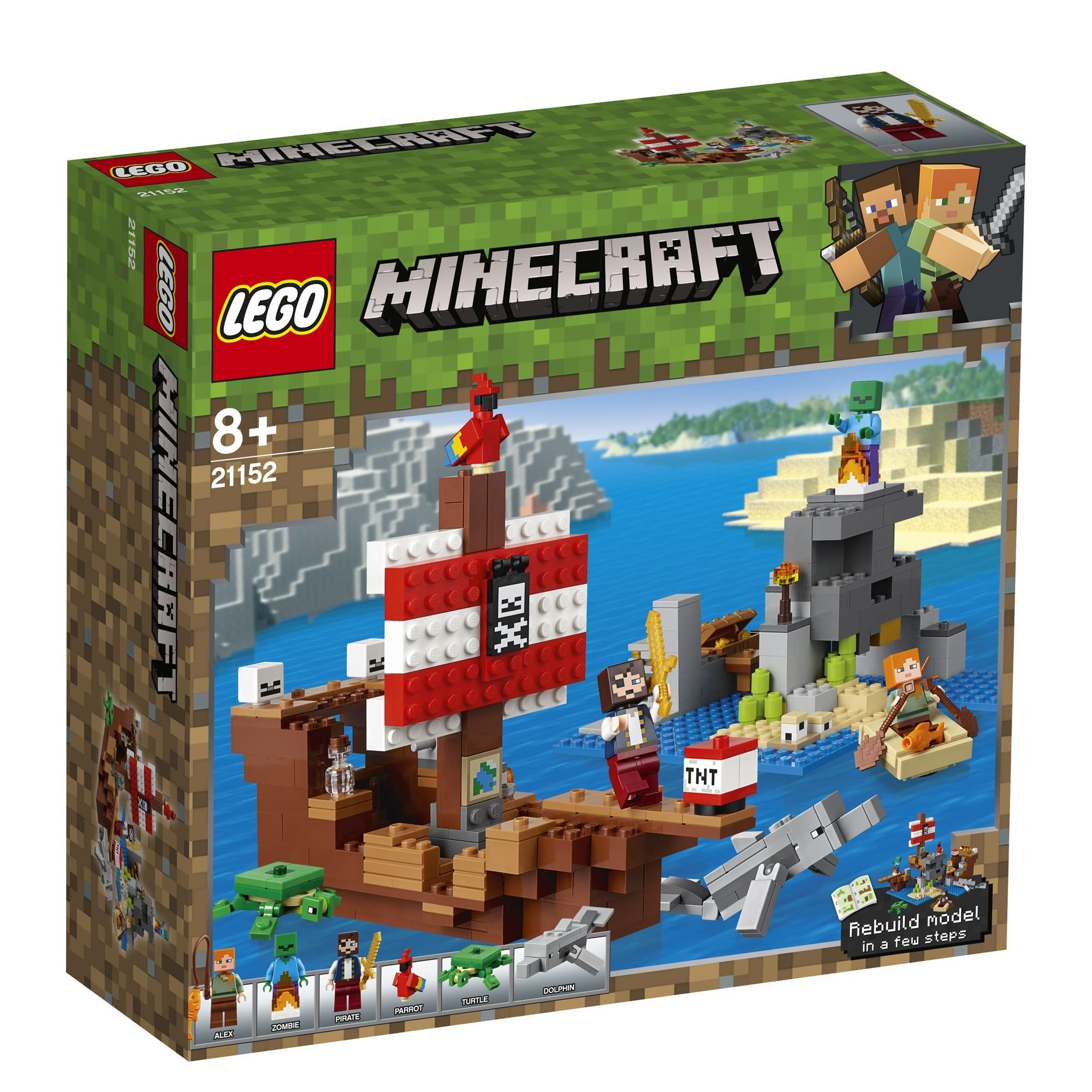 LEGO 樂高積木 Minecraft Micro World 創世神系列 21152 海盜船大冒險