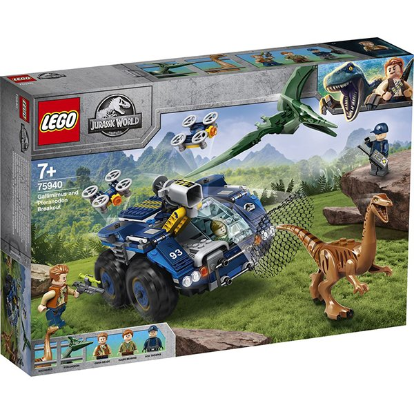 LEGO 樂高積木 Jurassic World 恐龍系列 75940 似雞龍與翼龍逃脫