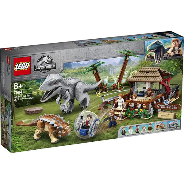 LEGO 樂高積木 Jurassic World 恐龍系列 75941 帝王暴龍VS甲龍