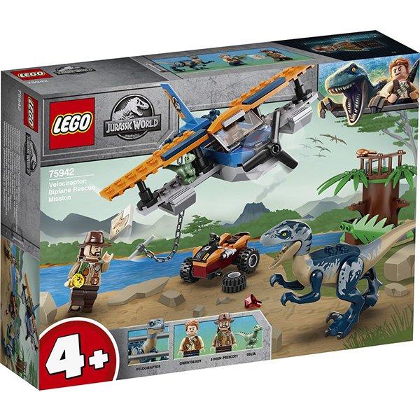 LEGO 樂高積木 Jurassic World 恐龍系列 75942 迅猛龍:雙翼飛機營救任務