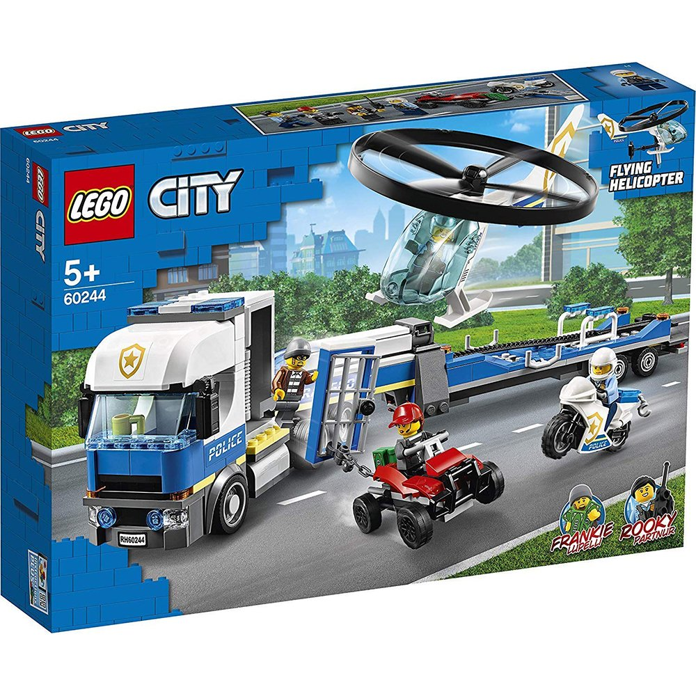 LEGO 樂高積木 City Police LT60244 警察直升機運輸車