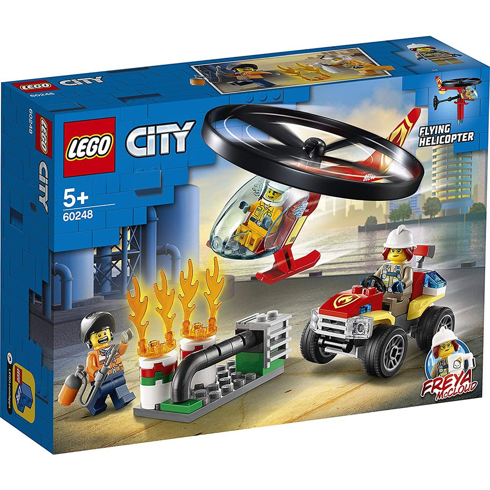 LEGO 樂高積木 City 60248 消防直升機呼救