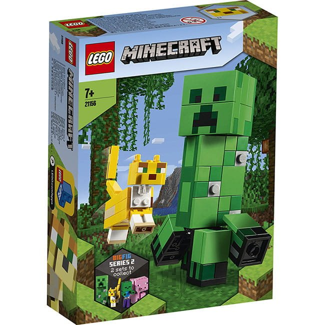 LEGO 樂高積木 Minecraft Micro World 創世神系列 21156 BigFig Creeper™ and Ocelot