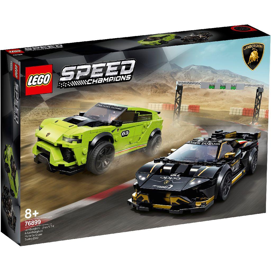 LEGO 樂高積木 Speed Champions 76899 Lamborghini Urus ST-X & Lamborghini Huracán Super Trofeo EVO