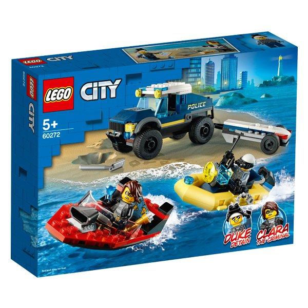 LEGO樂高積木CityPolice60272特警船隻運輸組
