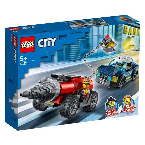 LEGO樂高積木CityPolice60273特警鑽機追逐戰
