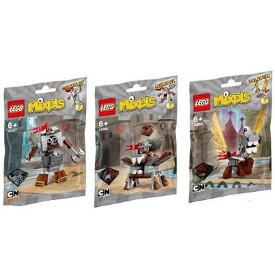 LEGO 樂高積木 Mixels系列 41557 + 41558 + 41559 三款合購